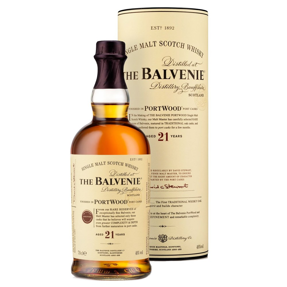 The Balvenie 21 Portwood Speyside Malt Scotch Whisky