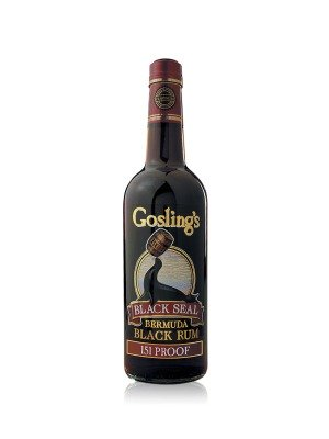 Goslings Black Seal 151 Proof Bermuda Overproof Dark Rum