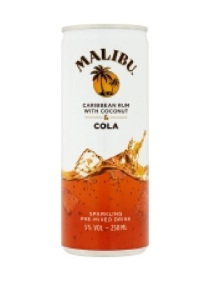 Malibu Caribbean Rum with Coconut & Cola