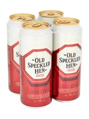 Old Speckled Hen Ale Cans