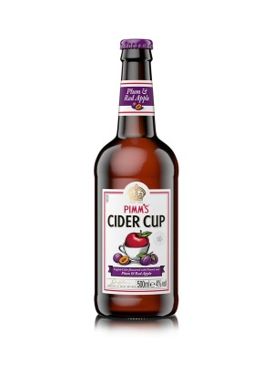 Pimm's Cider Cup with Plum & Red Apple