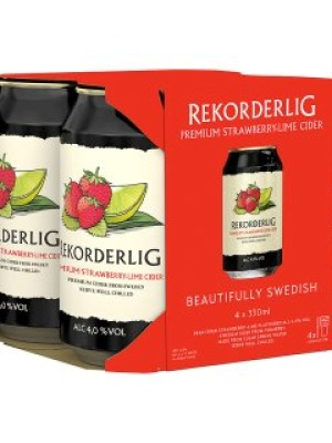 Rekorderlig Strawberry & Lime Cider Can