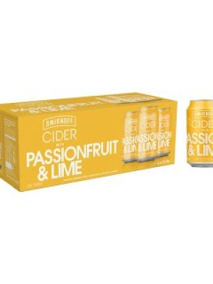 Smirnoff Cider Passionfruit & Lime Can