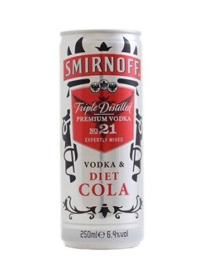 Smirnoff Vodka & Diet Cola
