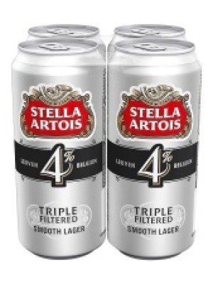 Stella Artois 4 Lager Can