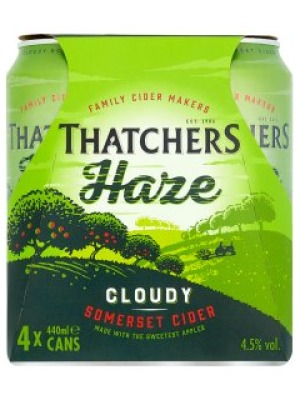 Thatchers Somerset Haze Cider Can