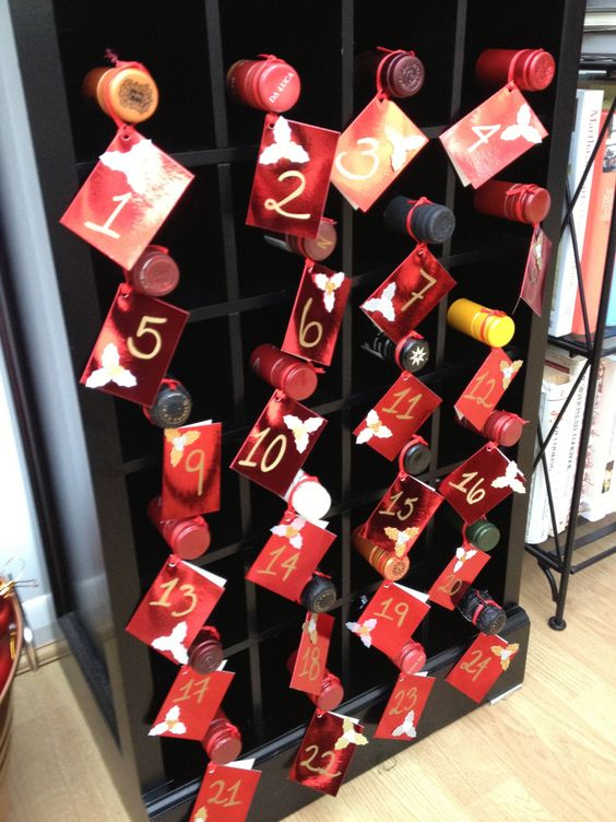 Homemade wine advent calendar