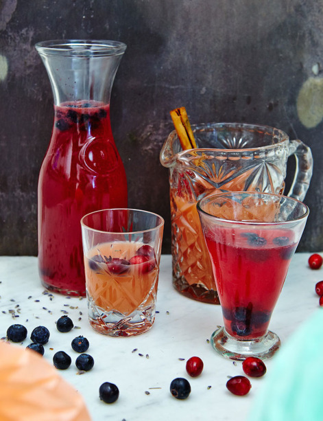 Blueberry Lime Lavender Cocktail by Hemsley and Hemsley
