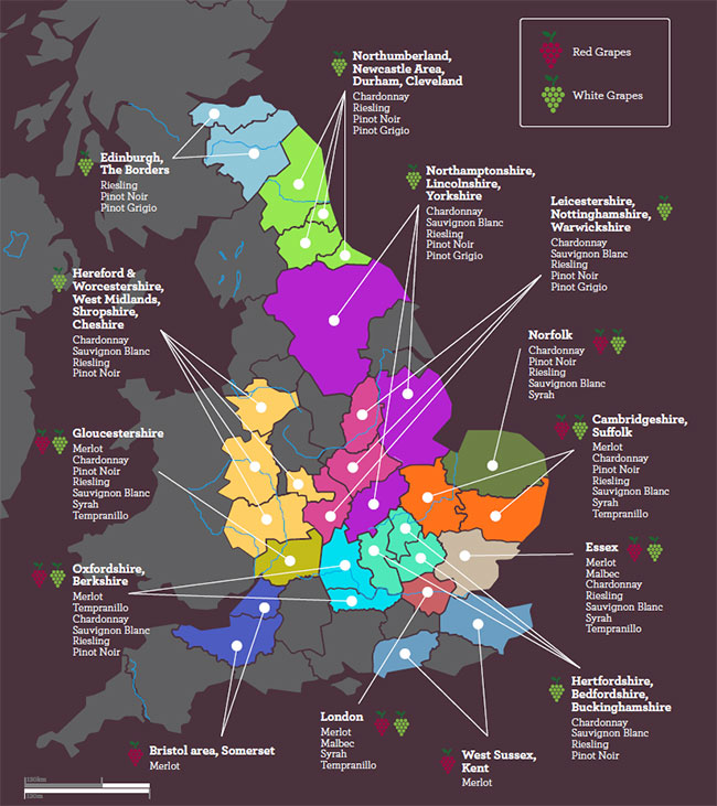 Laithwaites Britain Wine Map
